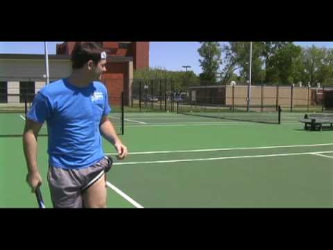 The Rapping Weatherman plays tennis with college girls