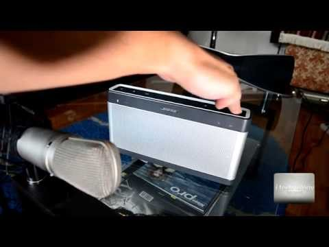 Review Bose Sound Link 3 - testing bluetooth speakers sound with studio microphone