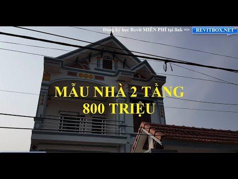 Thăm Quan Mẫu Nhà 2 Tầng Đẹp Diện Tích 7x11m Giá Gần 800 Triệu Tại Ninh Bình - Thời lượng: 9:54.