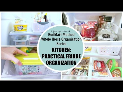 KonMari Organization | Kitchen: Fridge BEFORE & AFTER