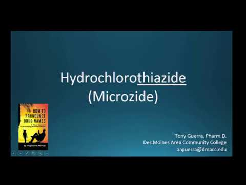 (CC) How to Pronounce hydrochlorothiazide (MIcrozide) Backbuilding Pharmacology