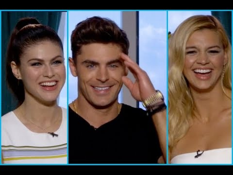 Video Zac Efron, Alexandra Daddario & Kelly Rohrbach on Penises, Boobs, Abs & Saving Lives News Interview download in MP3, 3GP, MP4, WEBM, AVI, FLV January 2017