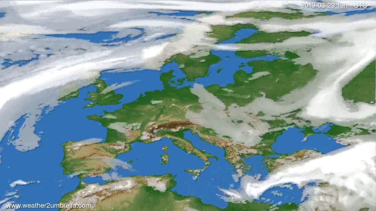 Cloud forecast Europe 2019-03-29