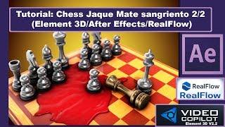 """En esta segunda parte del Tutorial """"Chess Jaque Mate sangriento"""" vemos como realizar la sangre que brota de la pieza del Rey al caer en el tablero, así como todo el proceso de exportar los fotogramas con realflow para importarlo posteriormente con C4D y a continuación importarlo con Element 3D, donde le damos la textura y posicionamos en el tablero de forma detalla con after effects.--------------------------------------------------Mi página Web -► http://www.mepasoamac.com--------------------------------------------------Espero les Guste este Vídeo, Déjame un Like !y No te pierdas los nuevos vídeos, Suscríbete Ahora es Gratis!◕ Click Aquí para Suscribirte! -► https://goo.gl/GhuzT9--------------------------------------------------Mi página Web -► http://mepasoamac.comComparte el video en Facebook -► https://goo.gl/VqfRw0--------------------------------------------------Sígueme.. Twitter -► https://goo.gl/yWQzbtSígueme.. GooglePlus -► goo.gl/AYRwFR--------------------------------------------------"""