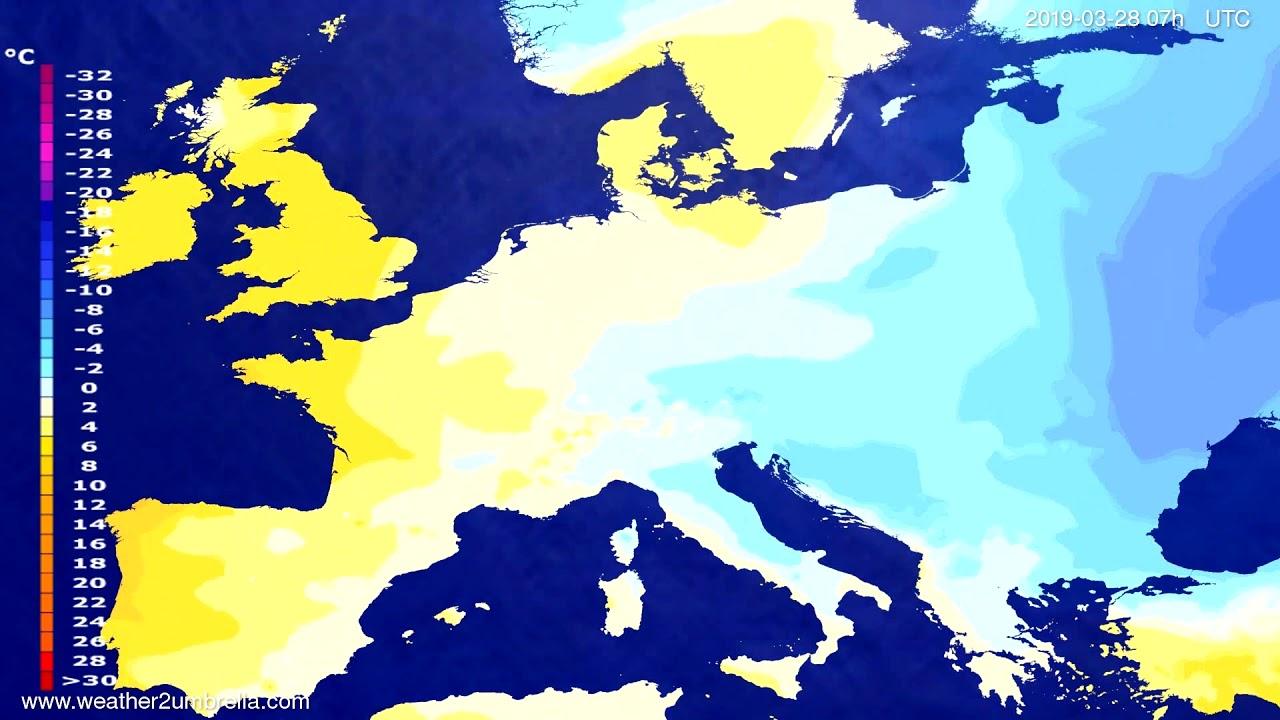 #Weather_Forecast// Temperature forecast Europe 2019-03-26