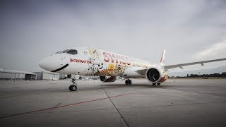 SWISS dedicates its first Bombardier CS300 to the people of Western Switzerland, who inspired this special livery. Mathias Forbach, alias Fichtre, an artist from French-speaking Switzerland, created this intricate livery. It is a reflection of the region's iconic sites, beauty, diversity and values. SWISS's CS300 can now be enjoyed on flights from Geneva to Europe's most pulsating metropolises._Subscribe for exclusive video updates: https://www.youtube.com/subscription_center?add_user=swissintlairlinesSwiss International Air Lines (SWISS) is the airline of Switzerland, serving more than 100 destinations from Zurich and Geneva and carrying more than 16 million passengers a year. Its origins commit it to the highest product and service quality. And because its size is manageable, SWISS is able to be closer to its guests and provide them with more individual care. SWISS is part of the Lufthansa Group, and is also a member of Star Alliance, the world's biggest airline grouping.SWISS – Made of SwitzerlandFollow us on Social Media:Facebook: https://www.facebook.com/flyswissTwitter: https://www.twitter.com/flyswissInstagram: https://www.instagram.com/flyswiss/Snapchat: https://www.snapchat.com/add/flyswissLinkedIn: https://www.linkedin.com/company/swiss-international-air-linesXING: https://www.xing.com/companies/swissinternationalairlinesSWISS.com: https://www.swiss.comWorld of SWISS: https://www.swiss.com/worldofswiss/en/story/western-switzerland-takes-offSign up for our Newsletter: https://www.swiss.com/newsletter_Film by LAUSCHSICHT  www.lauschsicht.com