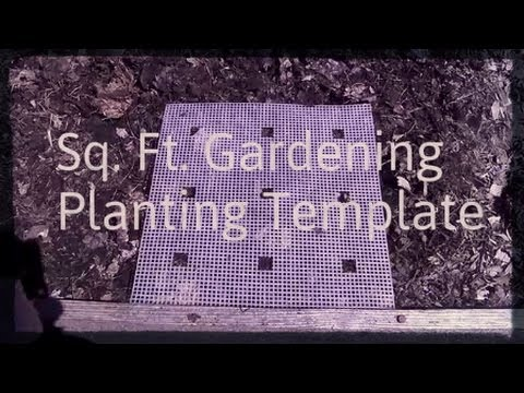 Square Foot Gardening Planting Template
