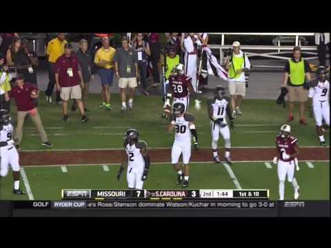 Mike Davis 24-yard catch vs Missouri 2014 video.