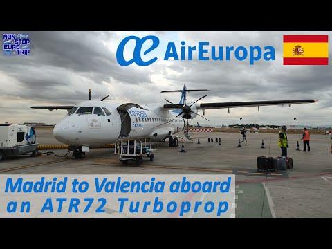 AIR EUROPA ATR72 TURBOPROP REVIEW / MADRID TO VALENCIA / SPAINISH PLANE TRIP REPORT