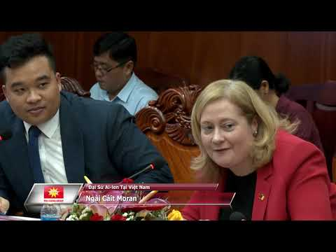 Soc Trang meeting with the Irish Ambassador to Vietnam, Cáit Moran and Mainstream Renewable Power