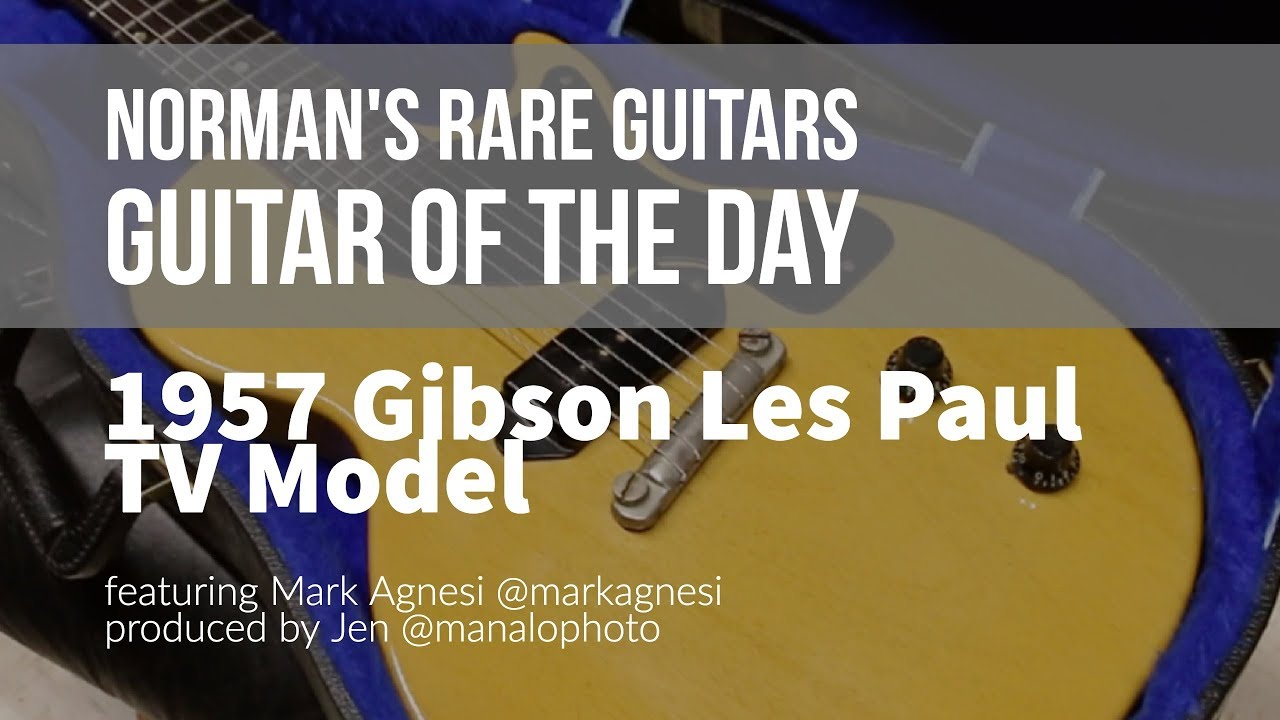 Norman's Rare Guitars – Guitar of the Day: 1957 Gibson Les Paul TV Model