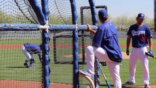 2014 National League MVP and three-time Cy Young Award winner Clayton Kershaw doesn't only take pitching seriously. Here he is working on his hitting on the back fields of Camelback Ranch during Spring Training 2017. Last season Kershaw hit .174/.191/.196/.387 with eight hits including a double and three RBIs in 46 at-bats. Read me at http://dodgersdigest.com/author/staci...  and  http://www.hardballtimes.com/author/s...Follow me @StacieMWheeler on Twitter https://twitter.com/StacieMWheelerSubscribe to DishingUpTheDodgers!Go Blue!