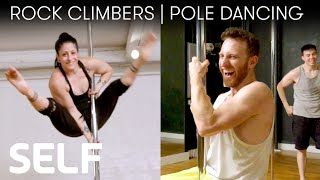 Video Rock Climbers Try to Keep Up With a Pole Dancer | SELF MP3, 3GP, MP4, WEBM, AVI, FLV Desember 2018