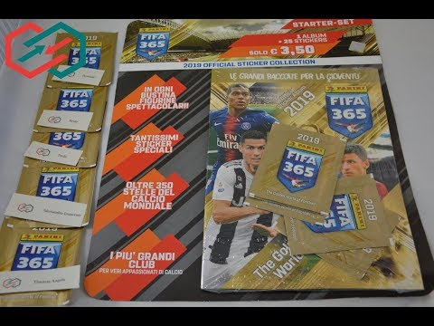 PANINI FIFA 365™ 2019 Official Sticker Collection Unboxing CeLoMiManca