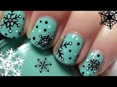 nail art - retro style - fiocchi di neve