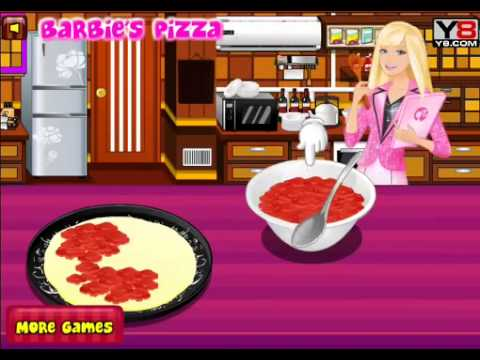 Barbie Cooking Pizza With Sound Y8 Com