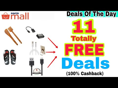 Free Free! 11 Totally Free Deals available on Paytm Mall Today. {100% Cashback}