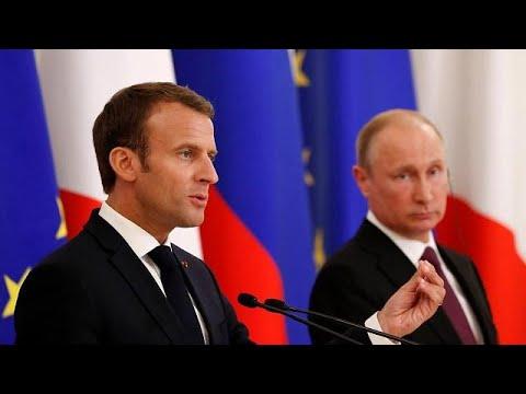 Putin und Macron: Gemeinsam gegen Trump?