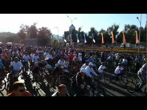 Старт крупнейшего велопробега в Алматы 16.09.2012
