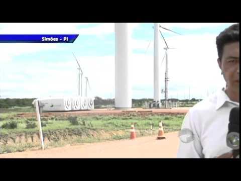 Usina promete gerar energia com força do vento em Simões