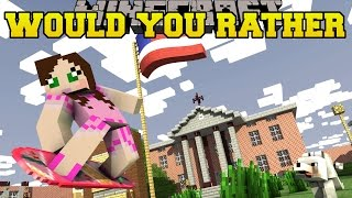 Minecraft: WOULD YOU RATHER?! (SO INSANE!) - Mini-Game