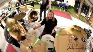 Rock n Roll Ribs 2nd anniversary NICKO MCBRAIN WARMING UP TUNING DRUMS MIC CHECK.