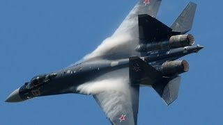 The Sukhoi SU-35 made a stunning performance at the Paris Air Show 2013. There were a few maneuvers I have never seen ...