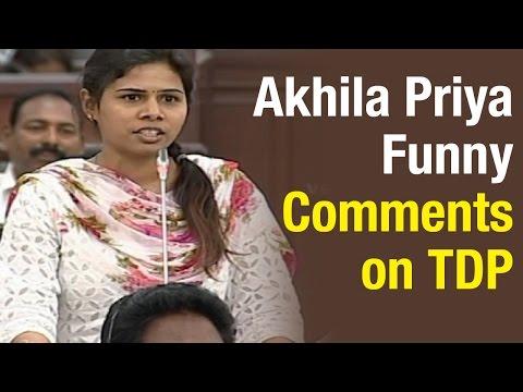 MLA Bhuma Akhila Priya calls CM Chandrababu government Robing Hood 26032015