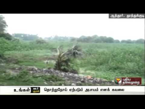 Piled-up-garbage-at-Thiruchendur-Tuticorin-road-poses-threat-to-hygiene