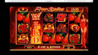 Red Hot Devil Bonus Game and Free Spins