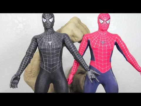 Spider-man 3 Hot Toys Black Suit Spider-man With Sandman Diorama 1/6 Scale Figure Review - RepeatYT - Twoje utwory w petli!