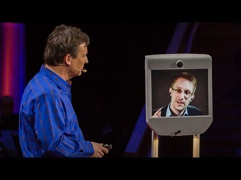 internet - Appearing by telepresence robot, Edward Snowden speaks at TED2014 about surveillance and Internet freedom. The right to data privacy, he suggests, is not a p...