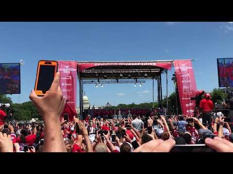 2018 Stanley Cup Parade Washington, DC Alex Ovechkin Speech #OVI8