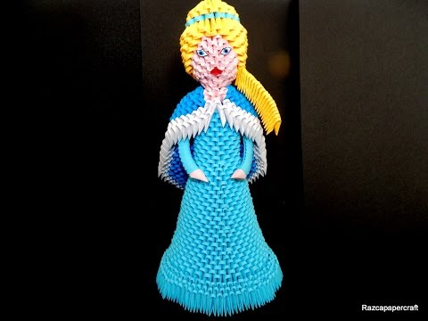3d Origami Princess Elsa Tutorial Part1