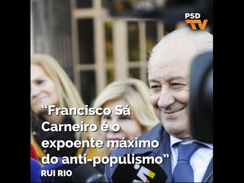 """Rui Rio: """"Francisco Sá Carneiro é o expoente máximo do anti-populismo"""""""