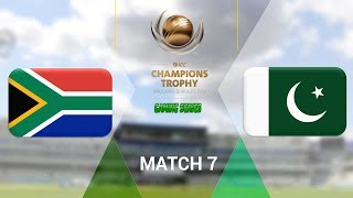 """(QUALIFIER) ICC CHAMPIONS TROPHY 2017 GAMING SERIES - SOUTH AFRICA v PAKISTAN - GROUP B MATCH 7 (DON BRADMAN CRICKET 17, FULL 1080P HD, 30FPS, XBOX ONE S)Check out the Champions Trophy 2013 Gaming Series playlisthttps://www.youtube.com/playlist?list=PLdKwevnrzNGy2Jax2seo6LK0hiYjwt1PKICC Champions Trophy 2017 FixturesMatch 1 - England v BangladeshMatch 2 - Australia v New ZealandMatch 3 - South Africa v Sri LankaMatch 4 - India v PakistanMatch 5 - Australia v BangladeshMatch 6 - England v New ZealandMatch 7 - Pakistan v South AfricaMatch 8 - Sri Lanka v IndiaMatch 9 - New Zealand v BangladeshMatch 10 - England v AustraliaMatch 11 - India v South AfricaMatch 12 - Sri Lanka v Pakistan Semi Final GA1 v GB2Semi Final GB1 v GA2Final TBD v TBD*Warning: The following is a gameplay from the video game """"Don Bradman Cricket 17"""" for the ps4, Xbox one s and pc. It is by no means actual highlights of the ongoing event """"""""ICC Champions Trophy 2017""""  My gaming setuphttps://www.elgato.com/en/gaming/game-capture-hd60http://store.steampowered.com/app/464850/Don_Bradman_Cricket_17/http://www.vegascreativesoftware.com/ca/vegas-pro/Like me on Facebookhttps://www.facebook.com/PGEHamzah/?ref=bookmarksBe sure to message me any important questions onto there.Comment who you think will win the ICC Champions Trophy 2017 Gaming Series.Be sure to subscribe to join the PGE Army!"""