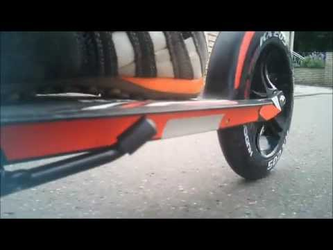 Hudora Scooter Big Wheel 205 Unboxing and jump