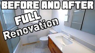 Complete Bathroom Transformation & Tour   Mobile Home Renovation #62