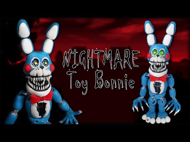 Fnaf 4 nightmare toy bonnie tutorial polymer clay