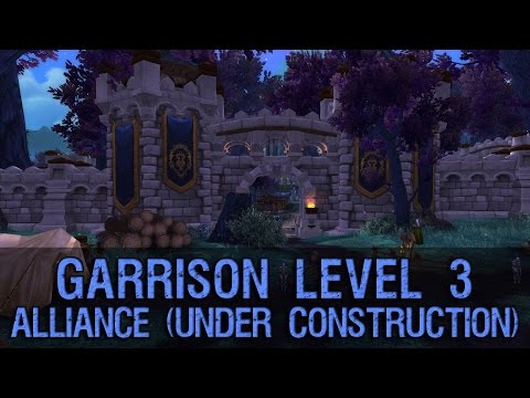 Preview - This is the preview of Alliance Garrison Level 3. Since there is a bug atm you can't complete building process in Garrison Level 3, so my Mage Tower, Lumber Mill and Sparring Area are not completed.