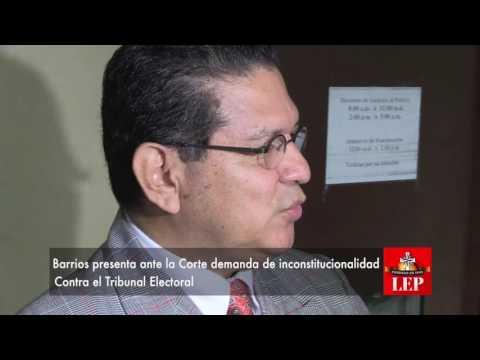Presentan en la Corte demanda de inconstitucionalidad contra el TE