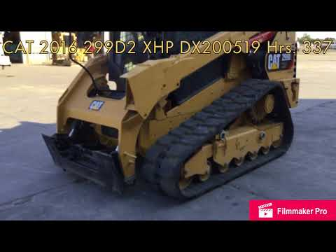 CATERPILLAR SKID STEER LOADERS 299D2 XHP equipment video yWDLSNH8T2g