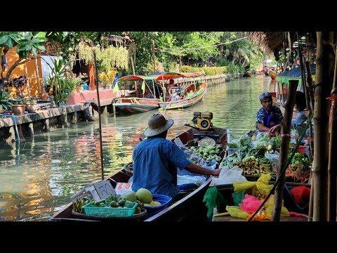 Floating Market in Bangkok 2020 | Khlong Lat Mayom Floating Market