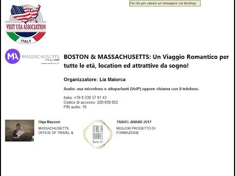 Video BOSTON & MASSACHUSETTS: Un Viaggio Romantico per tutte le età, location ed attrattive da sogno ! (10-10-2017)