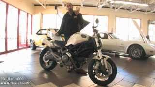 8. 2009 Ducati Monster 696 for sale with test drive, driving sounds, and walk through video