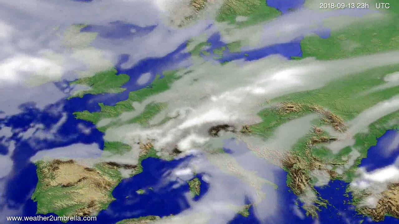 Cloud forecast Europe 2018-09-10