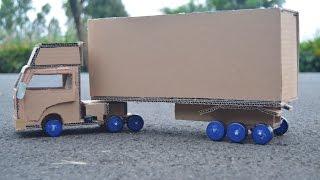 Wow! Menakjubkan Membuat Truk Kontainer Sendiri Di Rumah - DIY Mainan Kendaraan