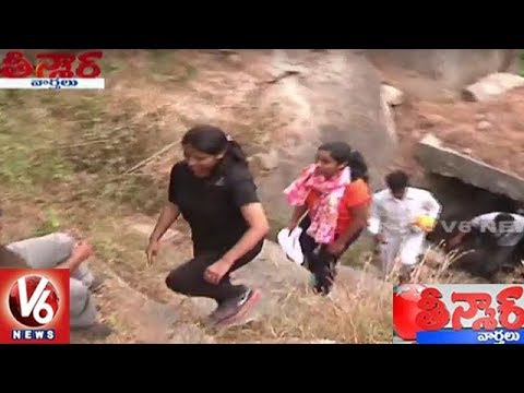 Wanaparthy Collector Sweta Mohanty Participates Trekking In Ghanpur Fort | Teenmaar News