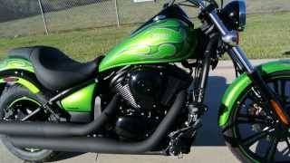 8. 2014 Kawasaki Vulcan 900 Custom Candy Lime Green For Sale $8499