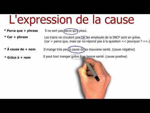 Grammaire française - L'expression de la cause